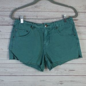 FP Green Lightweight Denim Shorts